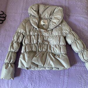 ダウンコート ダウンジャケット レディース Lサイズ ライトグレー