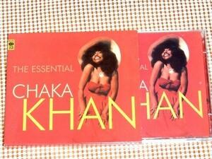 美盤 2CD The Essential Chaka Khan チャカ カーン /Rufus や Me'Shell NdegOcello との共作含む 大容量 33曲入 良ベスト I Feel for You