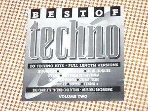 廃盤 Best Of Techno Volume Two / Rhythim Is Rhythim ( Derrick May ) Acid Junkies Guru Josh Quadrophonia ( Lucien Foort ) 等収録