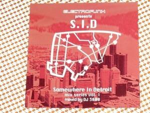 廃盤 DJ 3000 Somewhere In Detroit Mix Series Vol1/ Electrofunk / Underground Resistance Model 500 Mad Mike 使用強烈デトロイトMIX