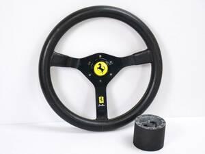 当時物 ◆ フェラーリ MOMO モモ ◆ Cavallino キャバリーノ ステアリング ボス付き ◆ 35π 旧車 フェラーリ テスタロッサ F40 管857
