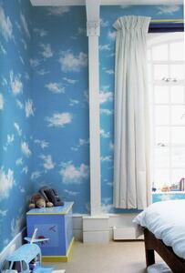 ☆大特価!ポップな青空と雲の柄の壁紙クロス  税込