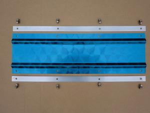 泥除け ウロコステンレス板 V溝入り 200mmx600mm 2枚 裏板 ボルト付き