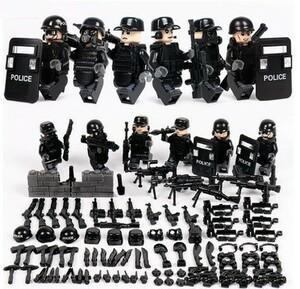 MOC LEGO レゴ ブロック 互換 SWAT 特殊部隊 アンチテロ部隊 カスタム ミニフィグ 6体セット 大量武器・装備・兵器付き D217