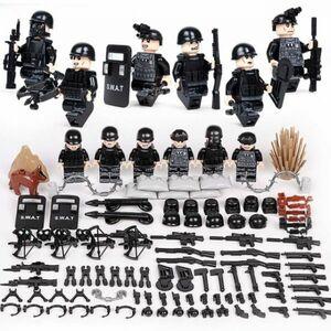 MOC LEGO レゴ ブロック 互換 SWAT 特殊部隊 アンチテロ部隊 カスタム ミニフィグ 6体セット 大量武器・装備・兵器付き D219