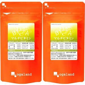 送料無料 ★ オーガランド マルチビタミン(約6ヶ月分)サプリメント ☆ 約3ヶ月分×2袋セット
