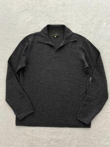 Y`s for men スキッパーデザインセーター size3 ウール グレー ワイズフォーメン ヨウジヤマモトプールオム メンズ 秋冬
