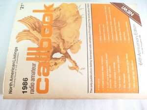 1986年版 North AmericanListings Callbook 64th Anniversary Edition XY