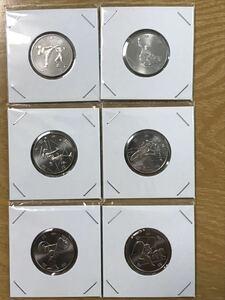 2020年 東京オリンピック パラリンピック競技大会記念貨幣 100円クラッド硬貨 2次 ロール出し 6種1セット 未使用密閉保存 二次 百円