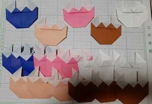 49☆送料無料☆折り紙 鬼 壁面飾りオーナメントガーランドハンドメイド手作り節分