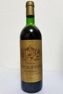 【限定1本】1977ワイン稀少   シャトー・プティ・ボーセジュール