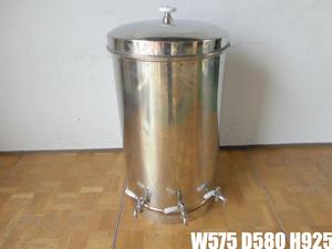 中古厨房 貯蔵タンク 蛇口3本付き 醸造 貯水 貯湯 W575×D580×H925mm