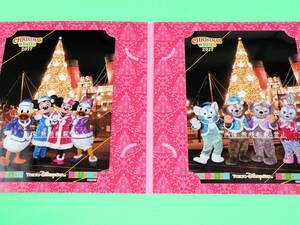 2017 クリスマス ディズニーシー TDS フォトファン フォト 台紙 写真 ダッフィー シェリーメイ ジェラトーニ ステラルー ドナルド デイジー