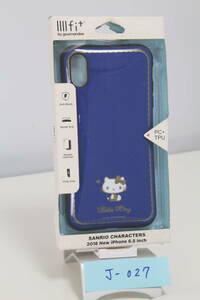 J-027【訳アリ・未使用品】グルマンディーズ iPhoneXS Max(6.5inch) ケース IIIIfit イーフィット サンリオ ハローキティ san-909kt