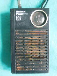 Showa Retro National Matsushita electro- vessel AM transistor radio R-1025 National shoB-waA2