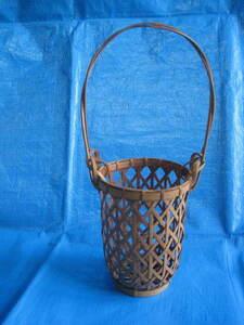 valuable! good-looking flower vase beautiful goods bamboo . bamboo skill flower basket raw . flower . tool shoB-waA6