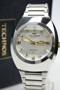 ☆☆☆☆☆70年代スイスの名門 テクノス代表的な名機FIRE -BIRD 紳士自動巻腕時計 デッドストック品