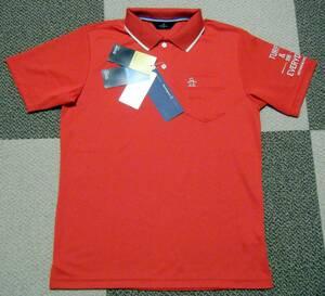 マンシング Munsingwear ゴルフ用高機能/冷感ポロシャツ 赤色 サイズ M 動体裁断設計 吸汗速乾/UVカット/涼感機能 定価 17,600円