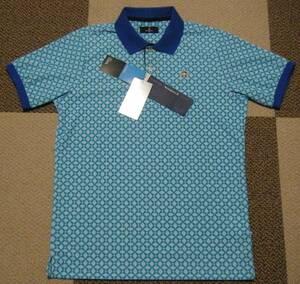 マンシング Munsingwear ゴルフ用高機能/冷感ポロシャツ エメラルドブルー系 サイズ M 吸汗速乾/UVカット/冷感機能 定価 17,600円