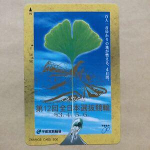 【使用済】 競輪オレンジカード JR東日本 第12回全日本選抜競輪 宇都宮競輪場