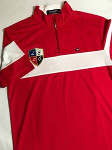 ルコック le coq sportif ルコックスポルティフ ゴルフウェアー 半袖 シャツ メンズ Sサイズ