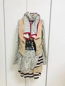 ko-tine-to* piling put on manner dress -+ the best + belt + muffler *M size 204231