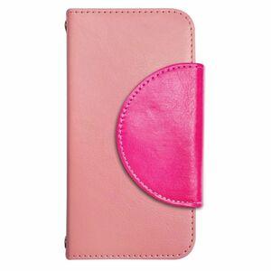 Xperia X Compact SO-02J PUレザー 手帳型 ケース ピンク 半月 かわいい おしゃれ