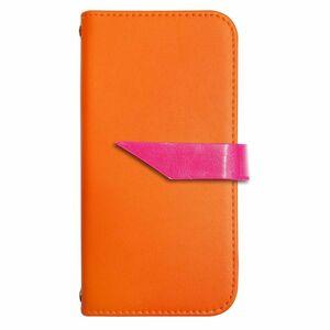 Xperia X Compact SO-02J PUレザー 手帳型 ケース オレンジ ななめ かわいい おしゃれ