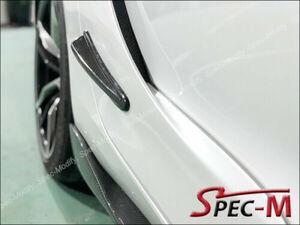 2020+ カーボン トヨタ スープラ A90 MK5 GT サイド ドアパネル カナード スプリッター2pcs