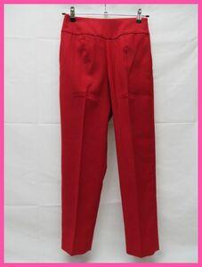 美品 Pinky&Dianne ピンキー&ダイアン パンツ サイズ36 赤 サイドファスナー クリーニング済