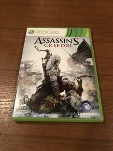 送料無料 Xbox360 ★ASSASIN'S CREED III アサシンクリード3 海外版★Xbox one/series X下位互換対応済