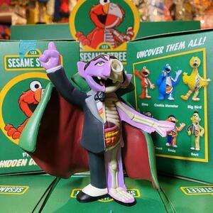 Sesame Street Freeny's Hidden Dissectibles セサミストリート 半分骨 フィギュア カウント伯爵 トイ おもちゃ mighty jaxx