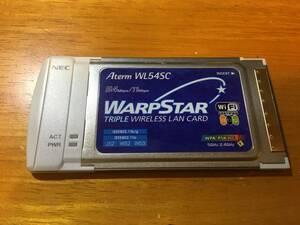 NEC●無線LANカード AtermWL54SC (PA-WL/54SC) WiFi a/b/g 54Mbps