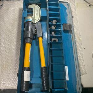 即決 中古品 IZUMI 泉精器 手動油圧式圧着工具 EP-365 動作確認済み T型ダイス4個付属