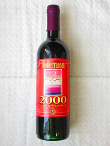メルシャン メディタレニアン 赤 2000年 記念ボトル ☆ 果実酒 イタリアワイン ☆ 古酒 未開栓 ☆ 希少品 優良品 ☆ 750ml 15度 ワイン