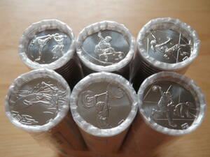 東京2020 オリンピック・パラリンピック競技大会記念貨幣 第二次発行分 百円クラッド貨幣 100円 棒金 6種6本 金融機関共通巻 ロール