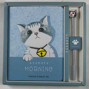 ◆猫が好き◆お絵描き帳 子猫ノート+ねこペンセット A5メモ帳 日記帳 手帳 プレゼント ギフト Cat Bell No02