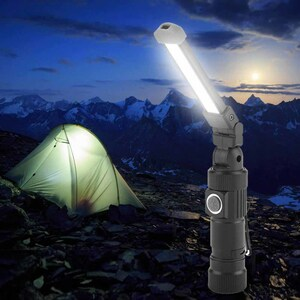 フレキシブル&コンパクト 高輝度LEDライト USB充電式 防水 折り畳み式 クリップ付 新概念の万能品 レア商品 未使用新品 迅速発送