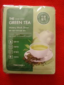 tonymoly ◆ トニーモリー グリーンティー フェイスパック×10枚/ 緑茶 フェイスマスク/新品未開封