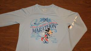 【Disney】 ウォルトディズニーワールドマラソン大会参加記念 アメリカ ディズニーランドリゾートDisneyland 長袖TシャツサイズS WDW
