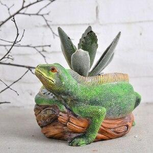 珍しい♪ トカゲ 植木 鉢 プランター とかげ 多肉 植物 盆栽 オフィス インテリア 置物 爬虫 デスク オブジェ ポット 小物 収納 opn204