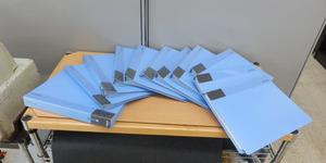 未使用品 KOKUYO コクヨ CLEARBOOK クリヤーブック クリアブック 10冊セット まとめて ラ-570B×9 ラ-585B×1 A4 タテ入れ 40POKETS 青★