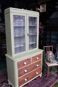 イギリスアンティーク家具 キャビネット ドレッサー ショーケース チェスト 英国製 H169-2