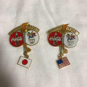 長野オリンピック コカコーラ 聖火 ピンバッジ アトランタオリンピック スポンサーグッズ オリンピック Nagano Olympic pins