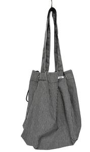 ブラックヒッコリーデニム レジカゴバスケット型エコバッグ レジかご用ショッピングバッグ