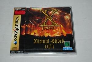 【新品】Sega Saturn ソフト「X JAPAN Virtual Shock 001」 検索:未開封 SS セガサターン エックスジャパン YOSHIKI TOSHI hide Pata
