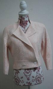 【新品タグ付き】BERARDI レディースジャケット サイズ2 検索:ベラルディ ピンク ホワイト 桃色 白色 COL 11 定価55000円 No.52181