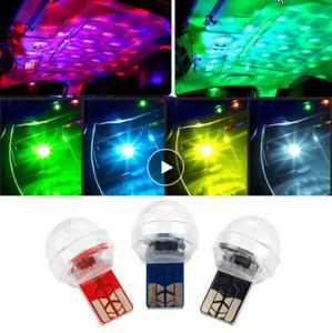 RGB ミニ LED 車 USB 雰囲気インテリア周囲光カラフル 音楽サウンドランプ USB 装飾ライトカーアクセサリー k-2003