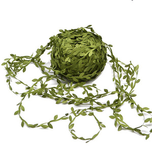 10m シルク葉型 Handmake 人工緑 葉結婚式 装飾 Diy 花輪ギフトスクラップブッキングクラフト偽花 k-2019