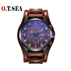 ブランド革腕時計 メンズミリタリースポーツクォーツ腕時計 日付レロジオ Masculino 1032B k-2227